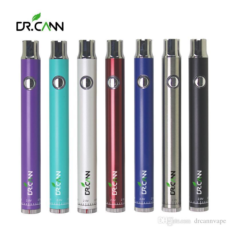 Dr.cann C * D Torça Bateria Pré-aqueça Vape bateria 420mah Vape Pen Pack caixa Variable Voltage 510 Tópico bateria para Thick petróleo Carrinhos de cerâmica