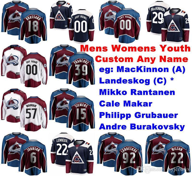 Colorado Avalanche Jerseys Matt Duchene Jersey Mark Alt Duncan Siemens Spencer Martin Maroon Branco Ice Hockey camisas personalizadas costurado