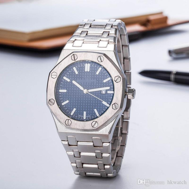 Wholesale High Quality Mens Fashion Wristwatch Royal Oak Wristwatch Offshore 41mm Brushed Finish Bezel Mens Quartz Sport Watch Auto-Date