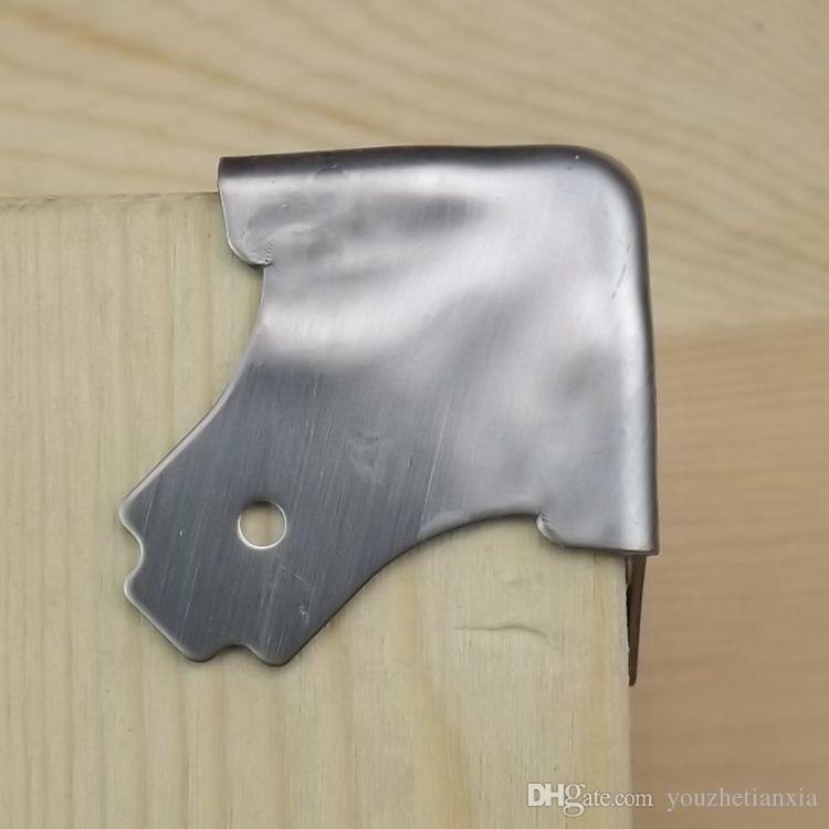 Staffa angolare in acciaio inossidabile 38 mm angolo scatola aria Valigetta portabagagli Scatola porta oggetti scatola audio cassetta degli attrezzi cassa del suono angolo cassa in alluminio