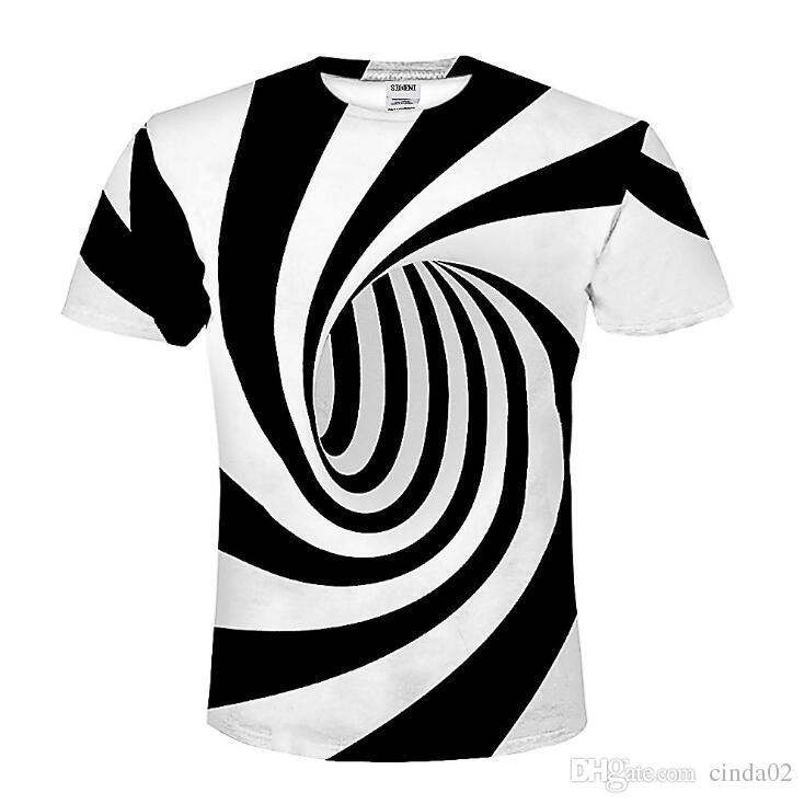 Top Tees Männer Frauen-Sommer-Tops Mode-Druck-Hypnose T-Shirt der beiläufigen Hemd-T-Shirt Lustiges Mens T Shirts T-Shirt