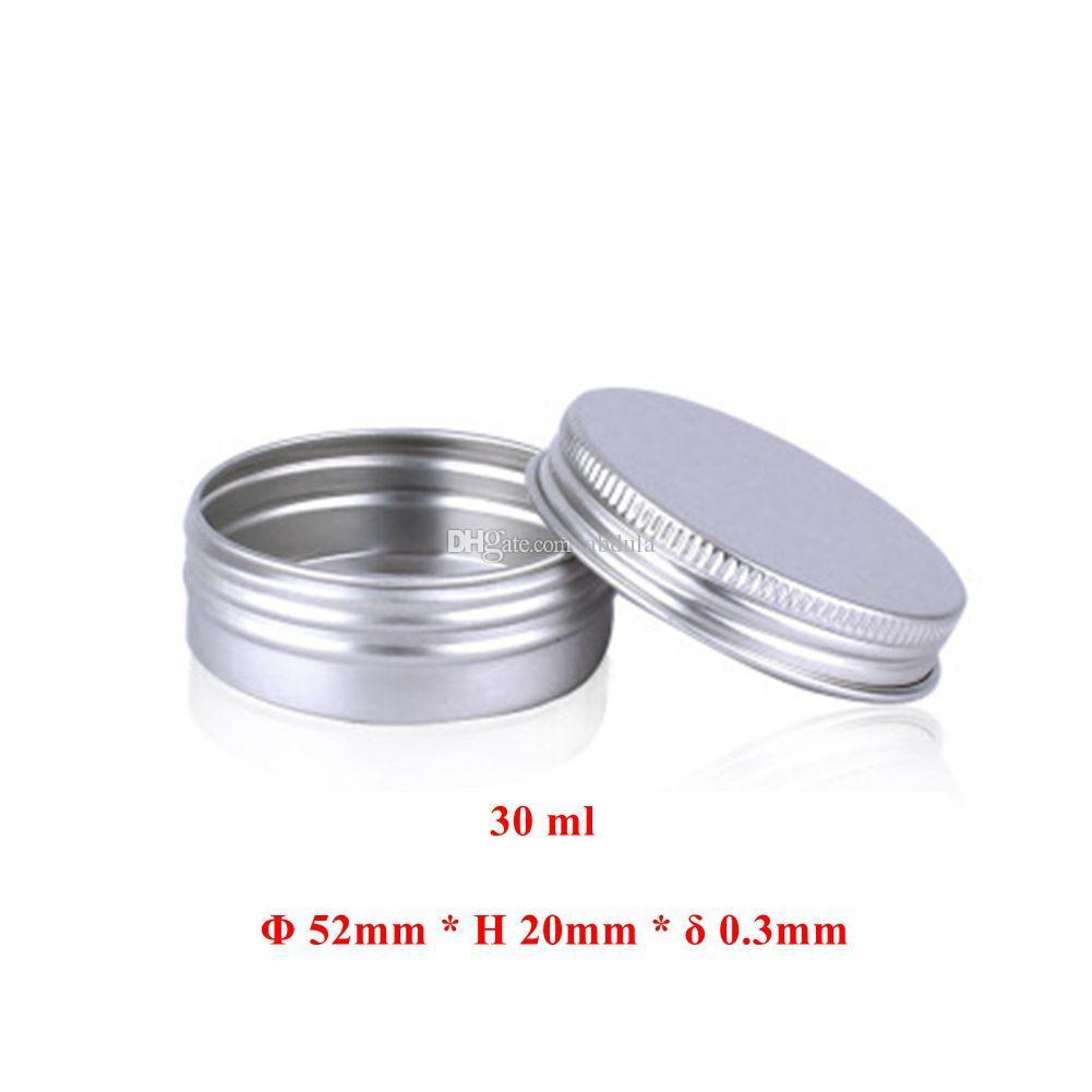 30ml Alüminyum Kavanoz Tin 100pcs Makyaj Tırnak Pot Boş Alüminyum Krem Jar Kalay 5ml 10ml 15ml 20ml 25ml 50ml 80ml Ucuz Alüminyum Kavanoz Konserve Şişe