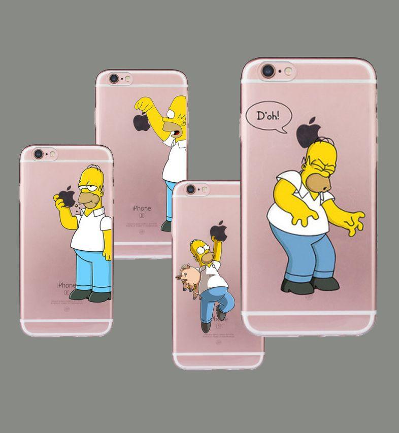 Custodia Morbida Di TPU Homer Simpson IPhone 5 5S SE 5C 6 6S Plus 7 8 Plus X XS XR XSMAX Divertente Fundas Silicon Coque Trasparente Da Ahx618, 0,18 € ...