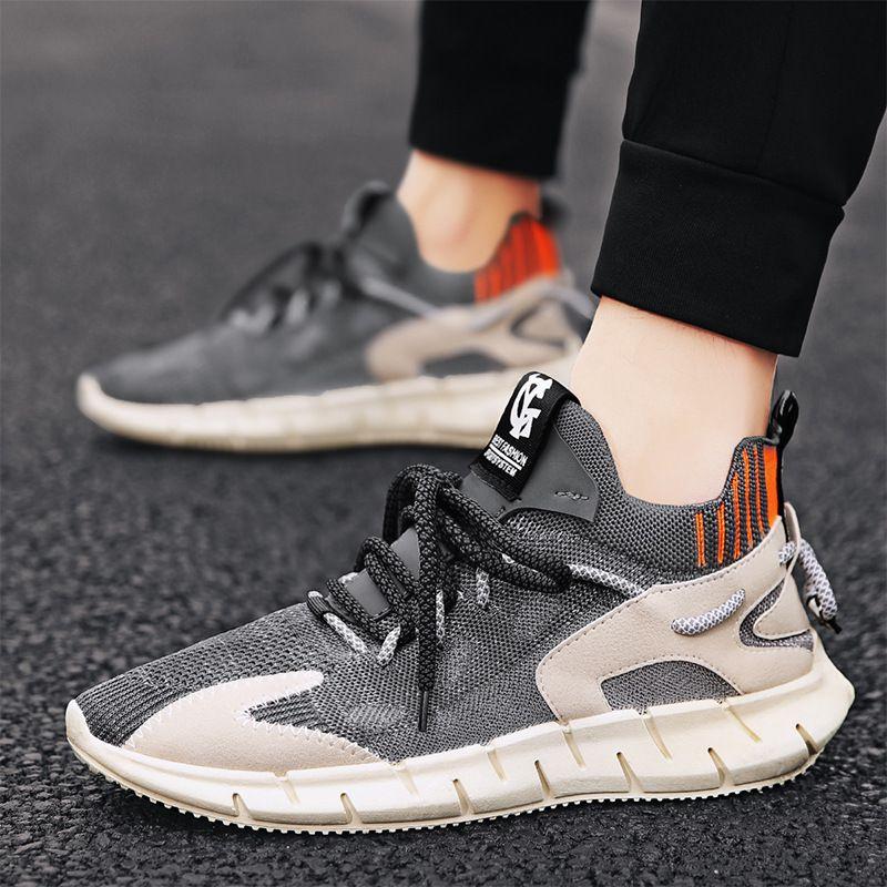 Mescola a rete traspirante intrecciata intrecciata intrecciata scarpe da cocco 2020 estate nuova moda comodo sportivo scarpe da uomo casual da uomo