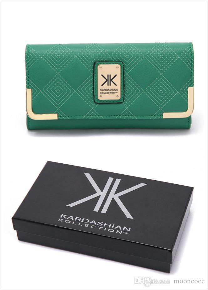 HOT-Kardashian kollection 2019 NOUVELLES femmes luxe dame long portefeuille multicolore designer kk porte-monnaie titulaire