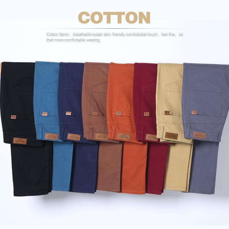 Klasik Erkek Haki Günlük Pantolon 2019 Yeni İş Moda Slim Fit Pamuk Stretch Pantolon Erkek Marka Giyim CX200628