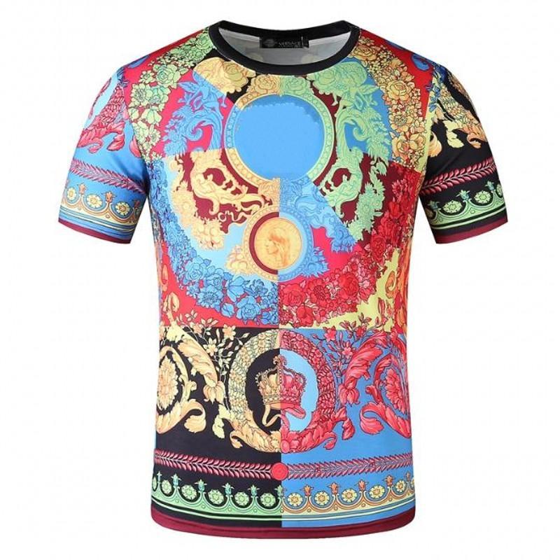 Cuello para hombre Camisa de manga corta para hombres Parejas CAMISETA CALIDAD T PRORTE CASUAL 3 HOMBRES REDONDA D TEES High FDAIM