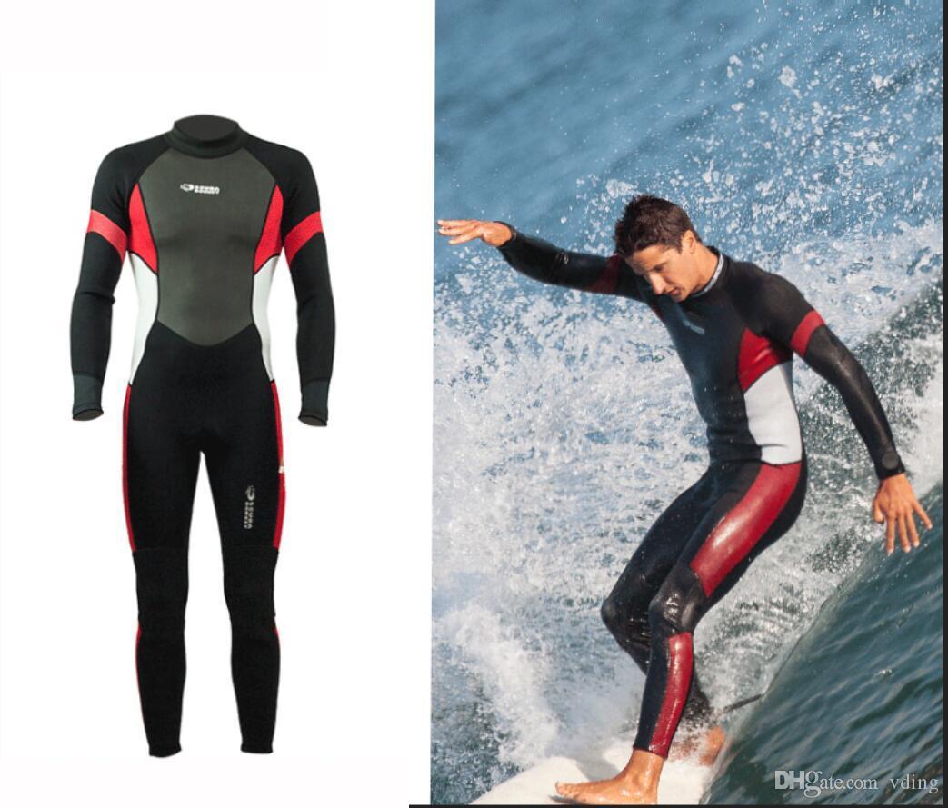 새로운 Hisea 남성 3mm SCR 네오프렌 서핑 잠수복 전신 탄성 스노클링 수영복 비치 다이빙 슈트