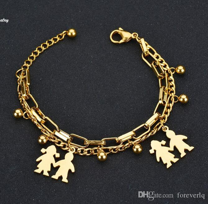 Nouveau mode bracelet en acier inoxydable bracelets meilleur garçon bracelets fille designer bijoux cadeau pour les hommes et les femmes bracelets B33