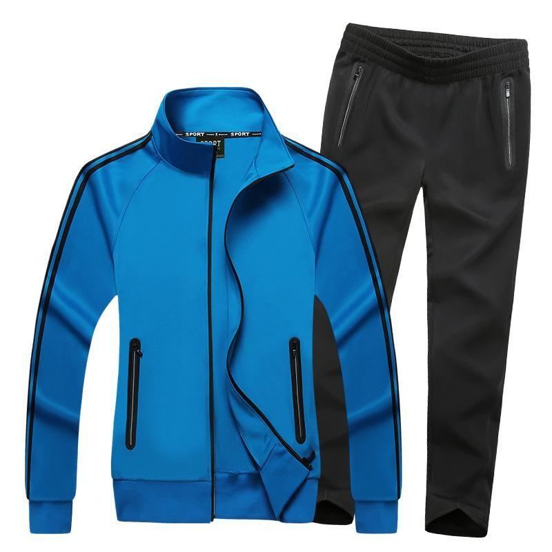 Sportswear Men Spring Autumn Set Tracksuit Striped Hoodies Sweatshirts Pants Sportswear Men Casual Sporting Suits Funny Plus Size 6XL