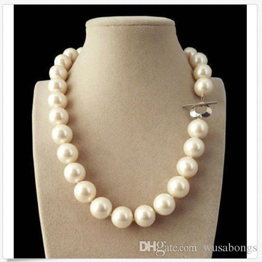 """Rare 8mm Genuine Yellow South Sea Shell Pearl Necklace 18/""""AAA+"""