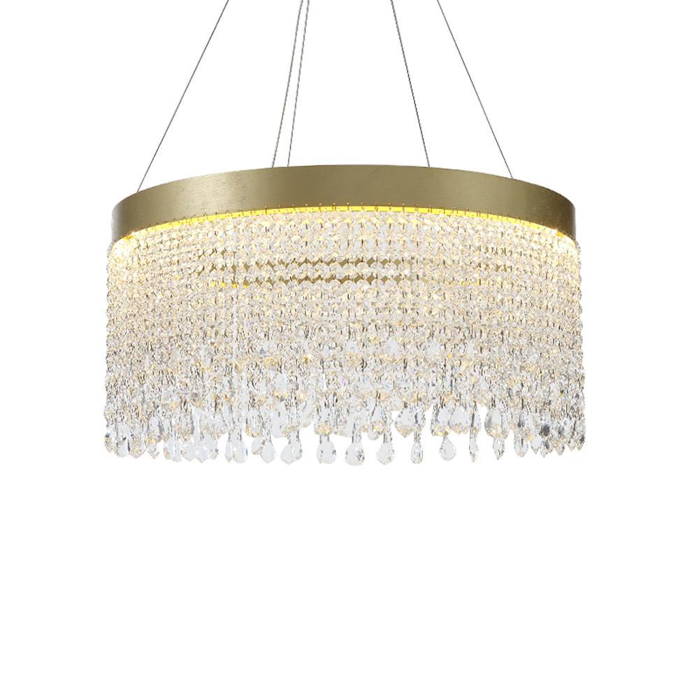 lustres en cristal de luxe d'éclairage moderne AC110V 220v cristal suspendus LED vivant lumières de la salle à manger de salle
