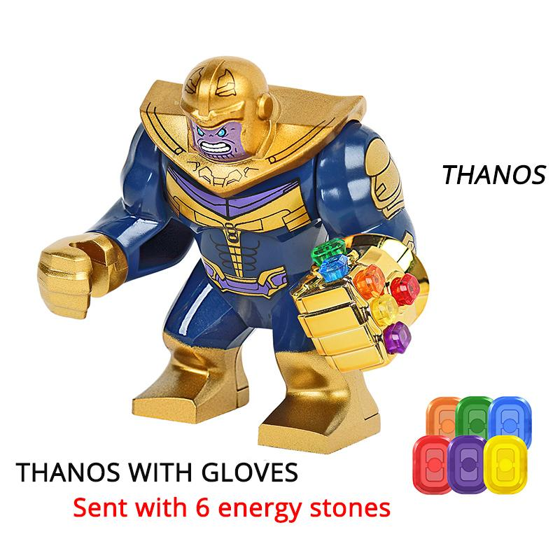 Thanos Energy Stones Gloves Building Blocks Avengers 3 New Infinity War Iron Man Block Marvel Figures Kids Toys Gift