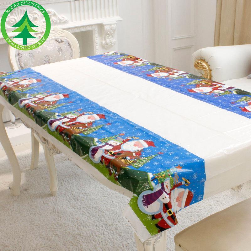 4PCS جديد زينة عيد الميلاد الكرتون PVC عيد الميلاد مفرش زينة