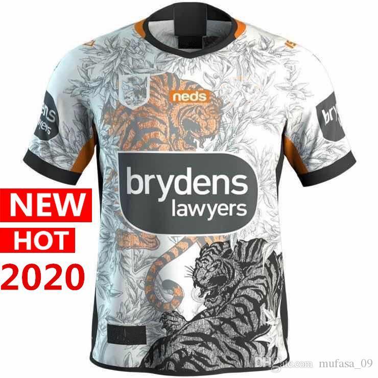 İyi Kalite 2020 WESTS TIGERS ev Anzak Dokuzlar Rugby Formalar Avustralya Rugby Jersey gömlek S-5XL