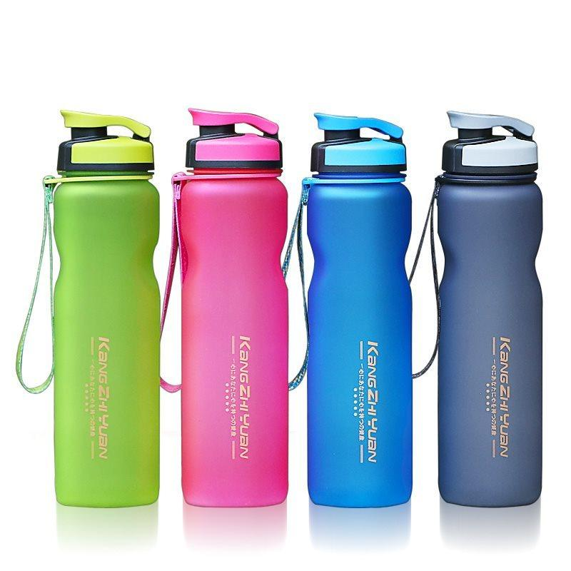 Outdoor Portable Plastic Water Bottle with Ropes Bike Sports Cycling Camping A4