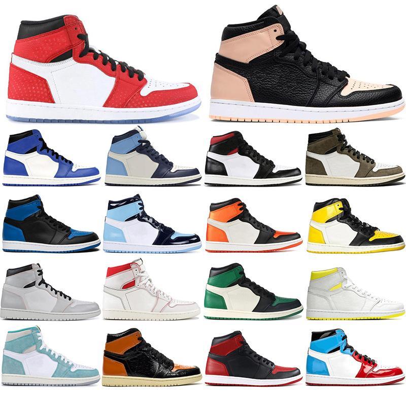 2020 chaussures de basket-ball Hommes Obsidian UNC intrépides 1 sport Brisées Backboard Top qualité baskets formateurs avec la taille des chaussettes libres 36-46