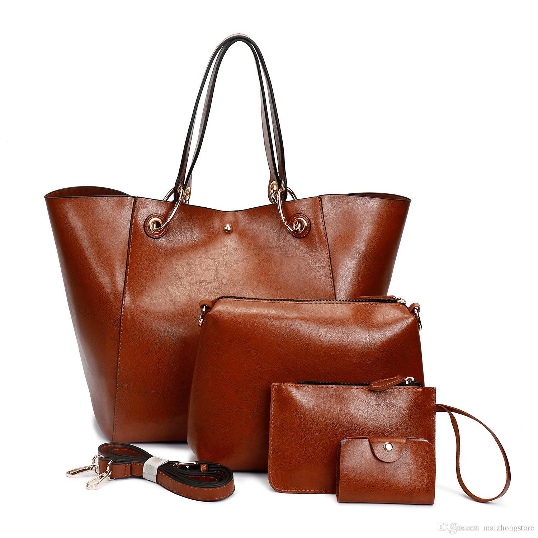 BRW Designer Luxus-Handtasche 3pcs Set Composite Beutel der großen Kapazität der Frauen Art und Weise Totes Designertasche Damen Handtasche