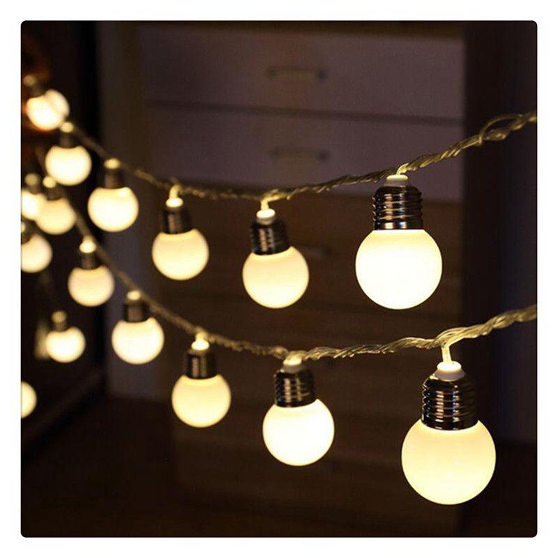 20 LED 16ft 5 м глобус струнные огни теплый белый шар свет для вечеринки в саду Рождество свадьба новый год