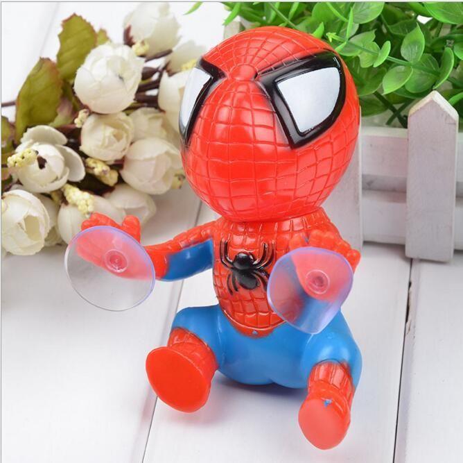 Fashion New 16CM für Spider-Man Spielzeug Klettern Spiderman Fenster-Sauger für Spider-Man-Puppe des Autoinnendekoration 2 Farbe