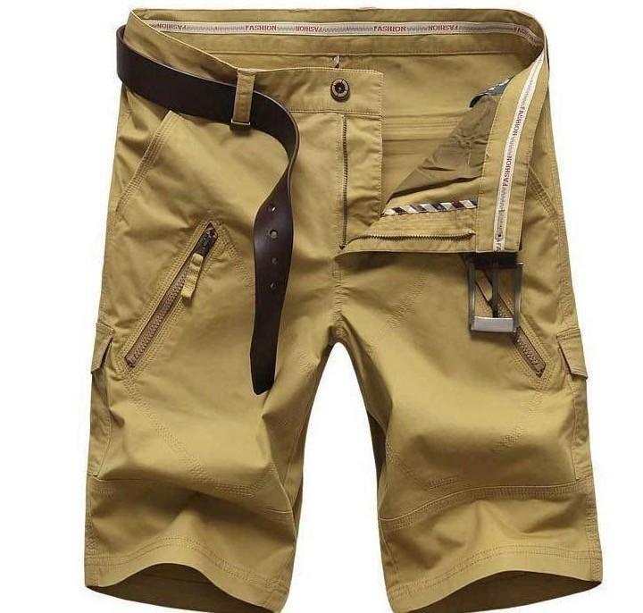 Artı Boyutu erkek Şort Erkek Yaz Eğlence Kargo Şort 4 Renk Düz Gevşek Moda Mans Kısa Pantolon Dipleri
