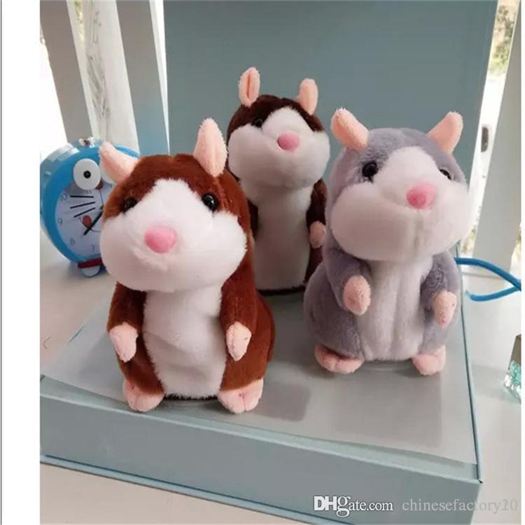 Konuşan Hamster Peluş Oyuncak Noel hediyesi Sevimli 15cm Anime Bebek Oyuncak Kawaii Konuşan Ses Kaydı Hamster Çocuk Hediyeler konuşun