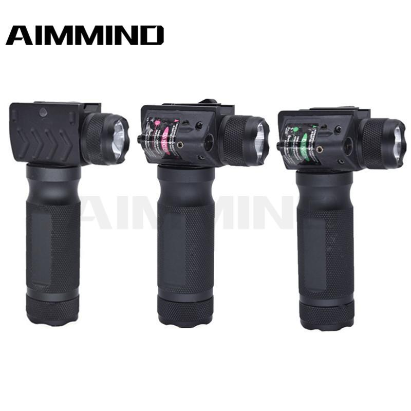 Tactical Fore grip Hard light LED Flashlight with Green Laser Modification Replacement Suitable sight for gun hunting 20mm