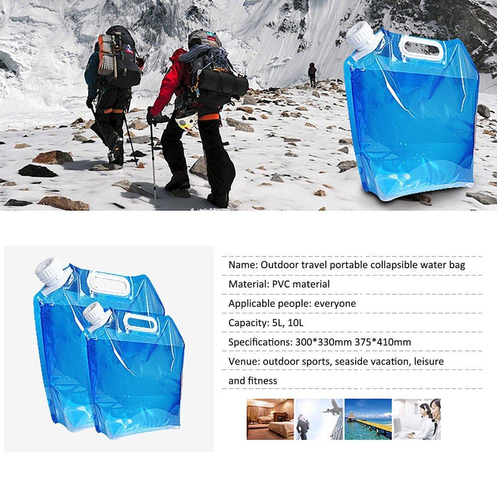 Água ao ar livre sacos dobrável Beber portátil Acampamento Cozinhar Container Picnic churrasco Água saco de portador de carro 5L / 10L tanque de água