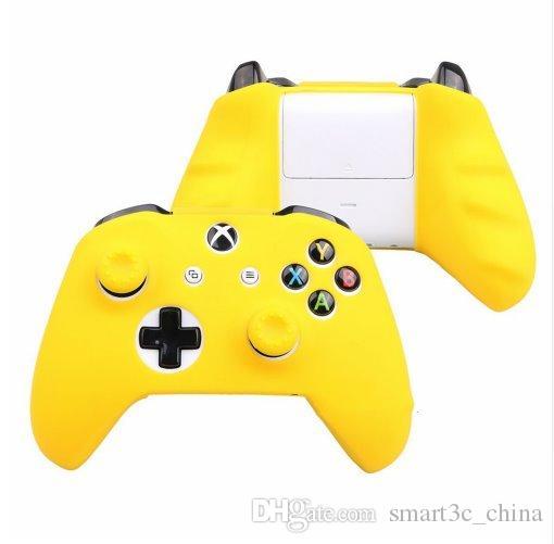 18 couleurs pour étui en silicone pour manette XBox One + Analog Thumb Grip Cap pour X Box One 1 S Joystick DHL