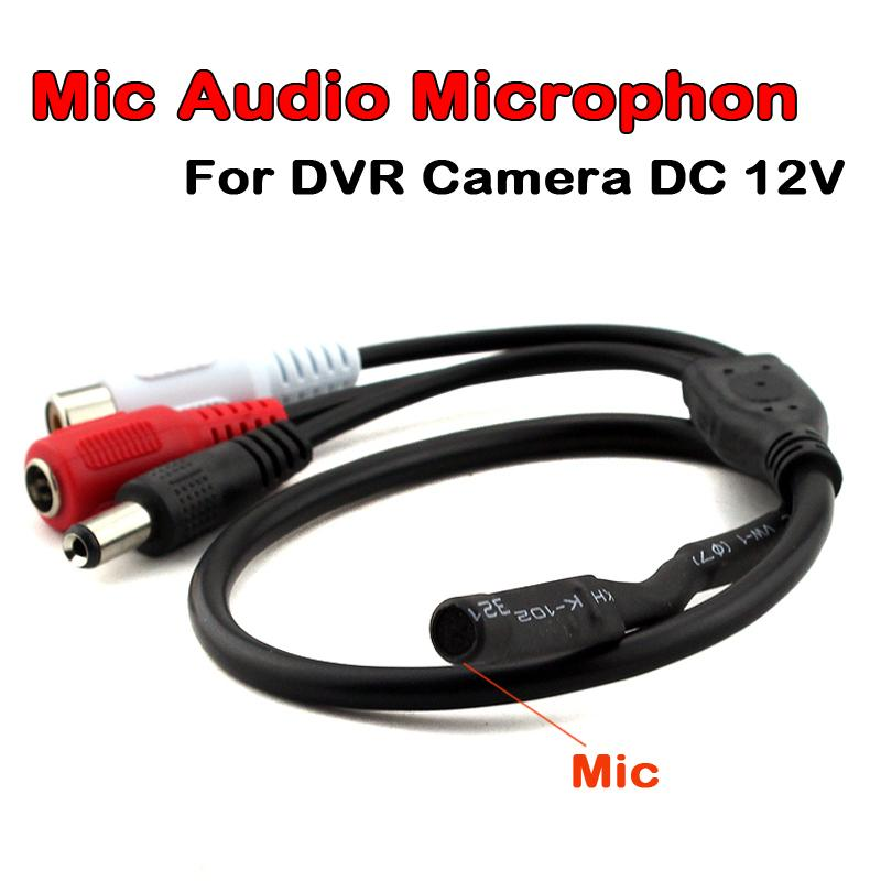 CCTV Mini Microphone for Audio pick up in Wide Range Camera Mic Audio Microphone for Security Camera DVR Video system DC 12V