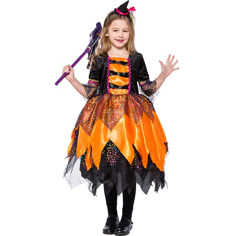 Witchy School Girl Costume Halloween Fancy Dress