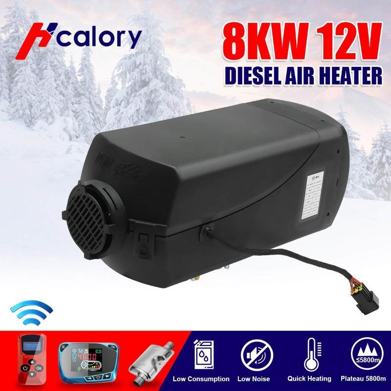 LCD Diesel Air Heater 12V 8KW 15L Tank Car Trucks Boat Motorhome Parking With Remote Control LCD Monitor for RV