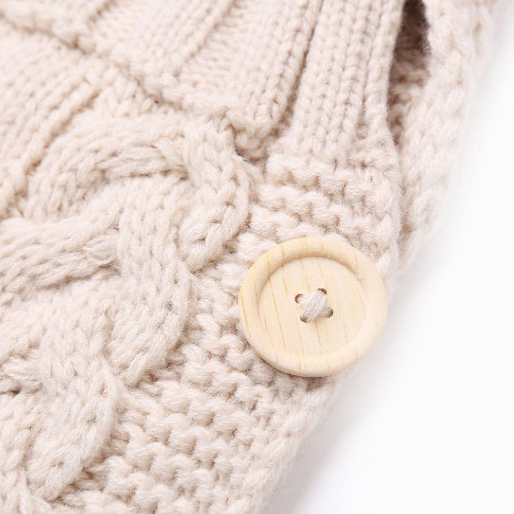 ARLONEET Baby Knit cotton Woolen Blanket Swaddle Wrap Envelope for Newborn Girls Boys Winter Sweater Sleeping Bag Sack g0719