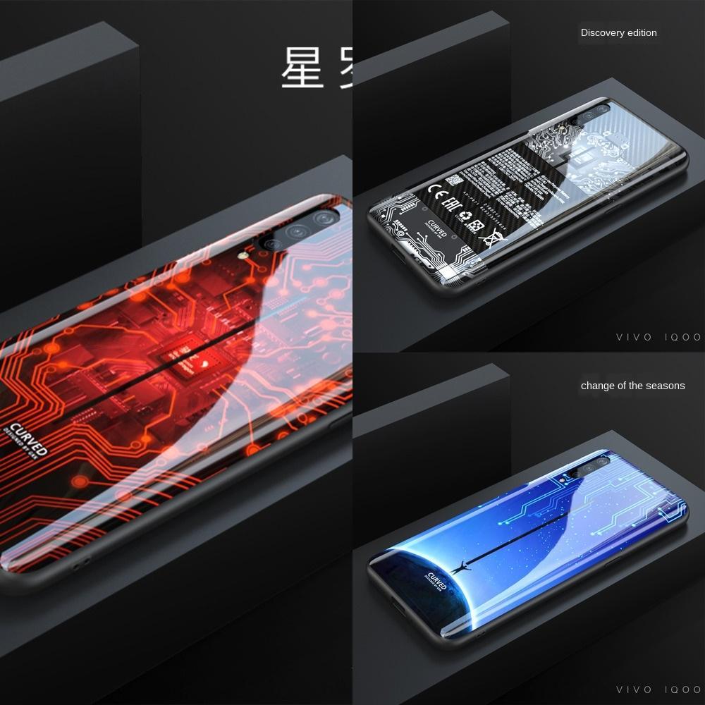 HQnes peint IQOO téléphone mobile Creative Glass vivo nouvelle housse de protection personnalisé téléphone mobile Painted IQOO caseCase casecase Creative G