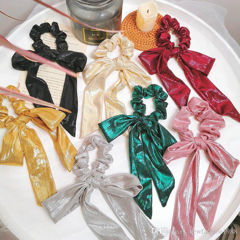 Ins Горячих продаж блестеть женщина Hairbands моды луких женщин волос Scrunchies принцессы Scrunchies волосы аксессуары для женщин головы полосы