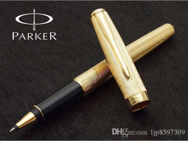 Livraison gratuite rouleau Parker Pen bureau fournitures scolaires couleur or parker bureau stylo Papeterie rouleau sonnet balle pen1