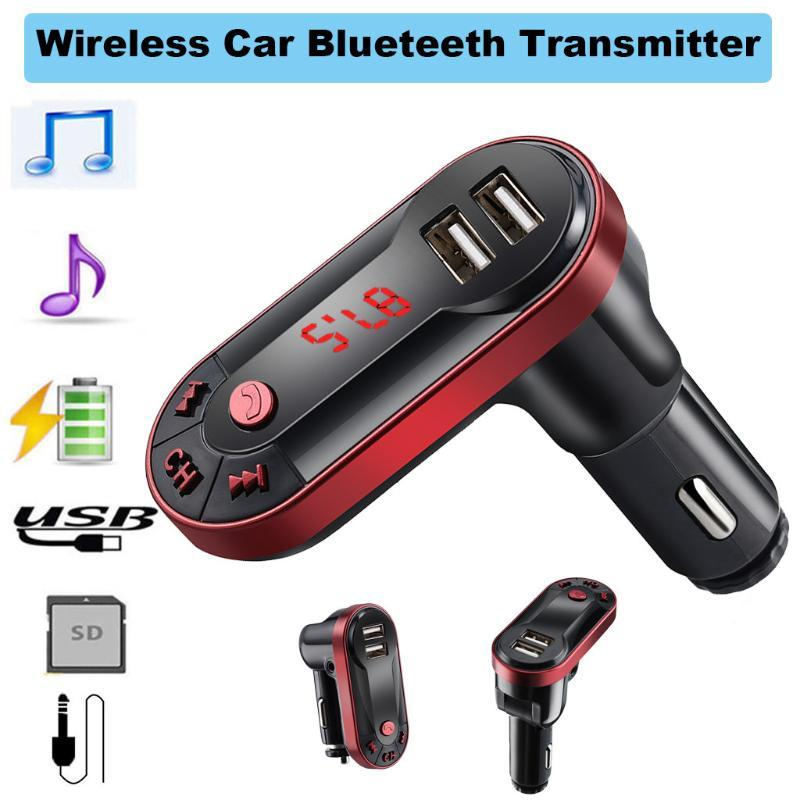 Blueteeth Kits para carro mãos livres sem fio Transmissor de música MP3 Players Apoio TF Disk 3,5 mm Detecção HD Tela # PY10