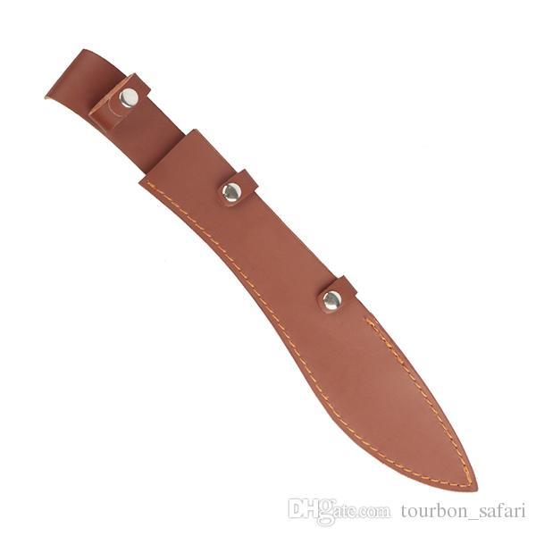 Accesorios de caza Tourbon Cuchillas de cuchilla Funda Funda Cuchillo de cuero fundido Funda con botón Cierre Ranura para cinturón