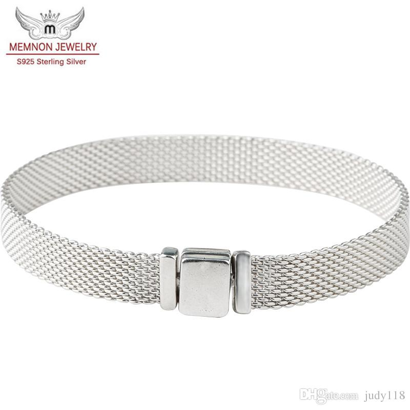 100% 925 sterling silver Reflexions bracelets for women with logo fit silver 925 charms beads DIY bracelet bangles for men Fashion jewelry