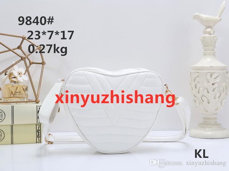 KL9840-2 # nome famoso marchio di moda del sacchetto di spalla Donne Borse Crossbody Shopping bag Totes Trasporto libero Cuore sacchetto di figura