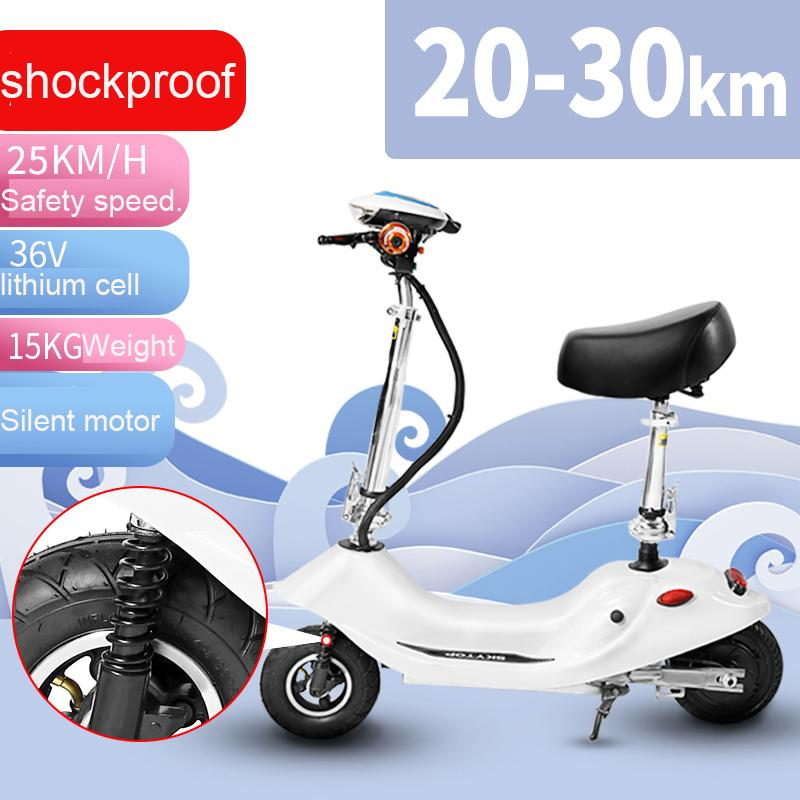 Mini Electric Scooter Portable Female Small Electric Scooter Foldable Adult Lady Riding Outdoor