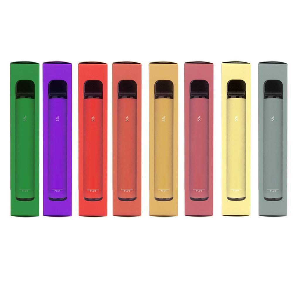 15 Stile PUFF BAR PLUS 800 + etichette Puff monouso SOFFIO PLUS Cartuccia 550mAh Battery 3.2mL pre-compilata Vape Pods Stick stile anti-contraffazione