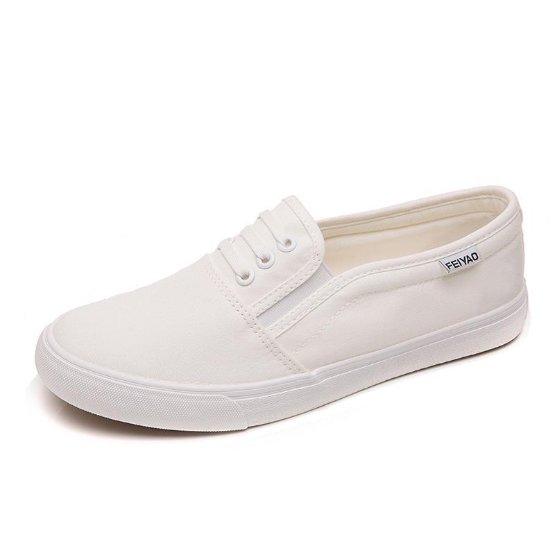 mens white canvas shoes slip on