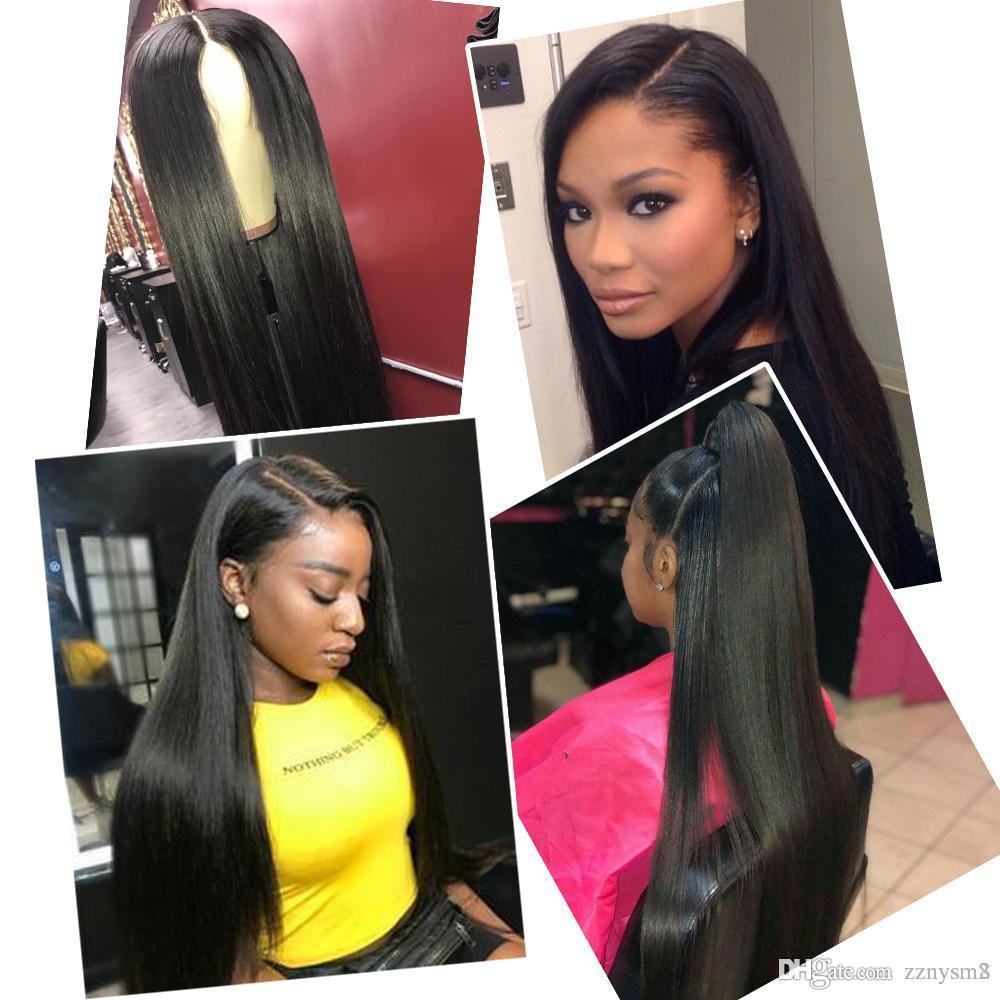 360 Lace Фронтальная парик бразильский человеческих волос прямой парик 180% Плотность Полный парик шрифта Конец шнурка волос Remy Pre щипковых для женщин
