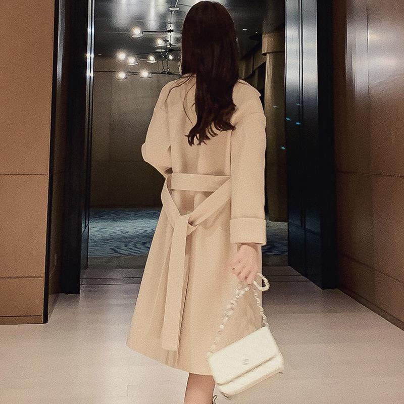 Acquista Autunno Inverno Coreano Donna Pro Lungo Cappotto Casuale Soprabito Misto Lana Donne Giacca Cappotti Eleganti Giacche Belt Top Caldi A $67.79