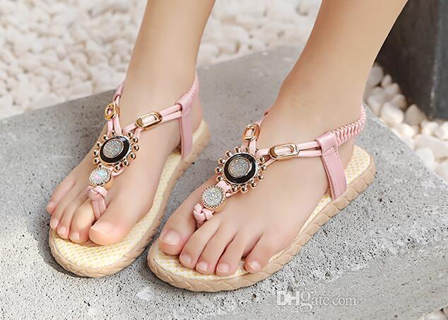 Girls Sandals Children Shoes Rhinestone