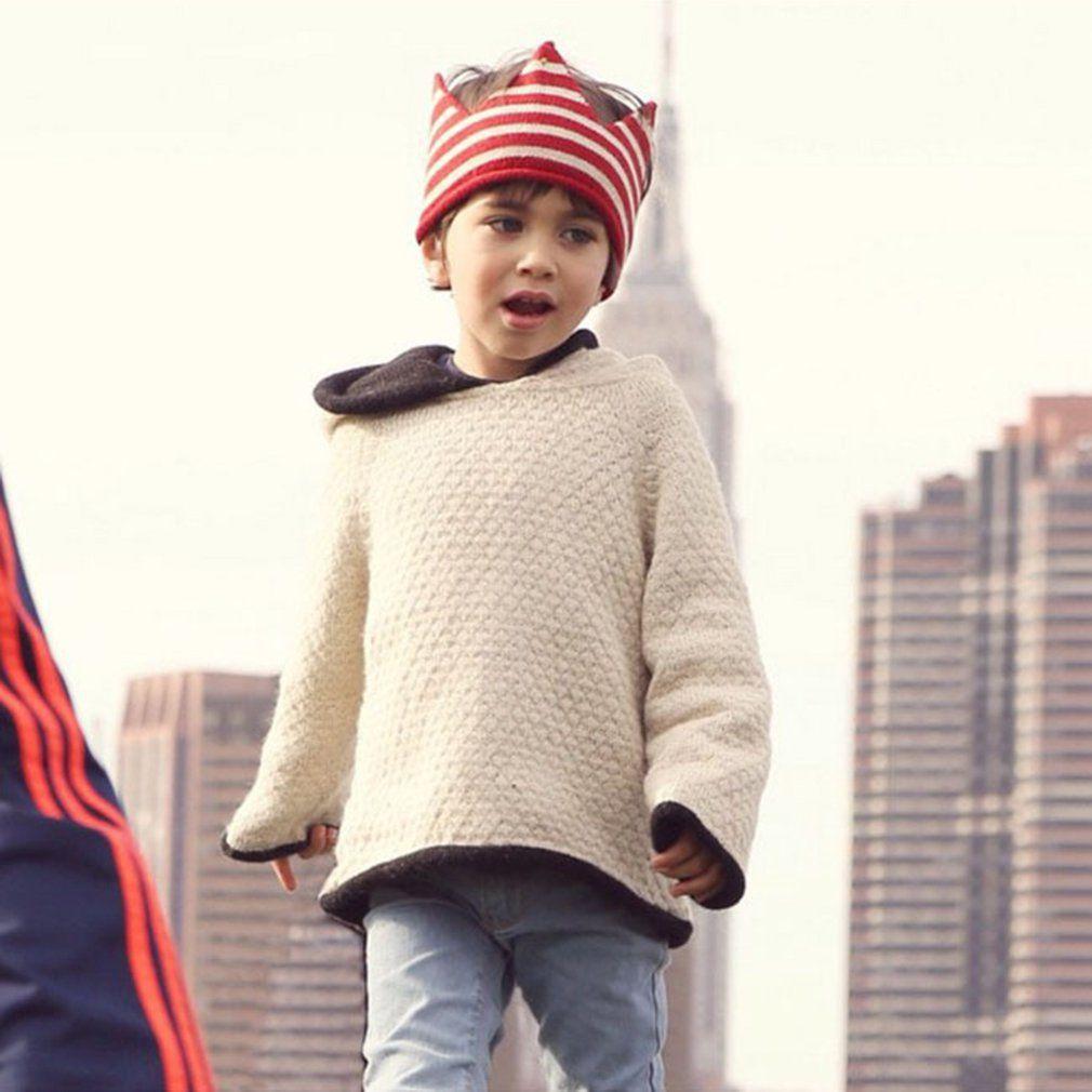 Bonito Forma Hat bebê Rapazes Raparigas criativa Crown Knitting Hat aniversário dos miúdos dos doces Cor Elastic confortável Hat Fotografia Props
