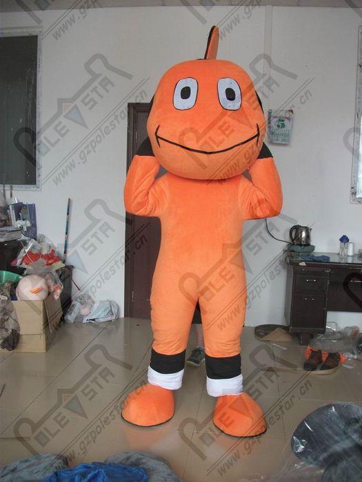 نيمو التميمة الكرتون البرتقال الأزياء الأسماك ازياء نجمة القطب التميمة
