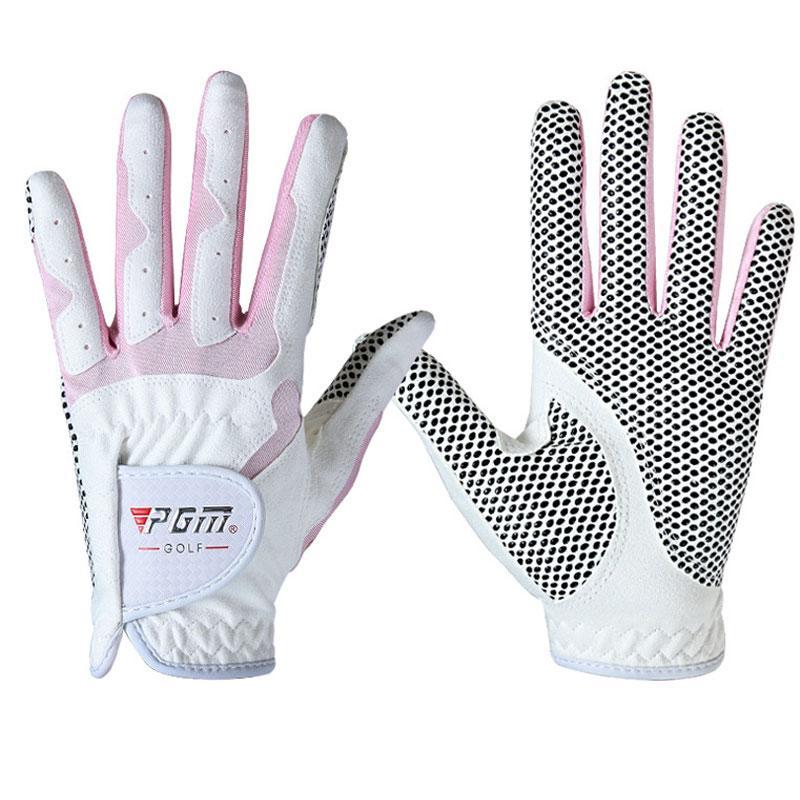 Femmes Outdoor Respirant Gant de golf Femme douce Gants Anti-Skid Particules Microfibre tissu élastique Gant 1pair 4 couleurs D0015