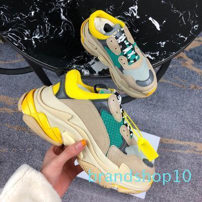 2019 FW Retro Üçlü S Sneaker Erkek Moda Vintage Kanye West Eski Büyükbaba Eğitmenler Tasarımcı Womens Günlük Ayakkabılar Boyut nm98605 33